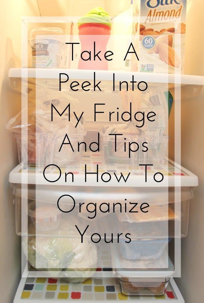 peek into my fridge