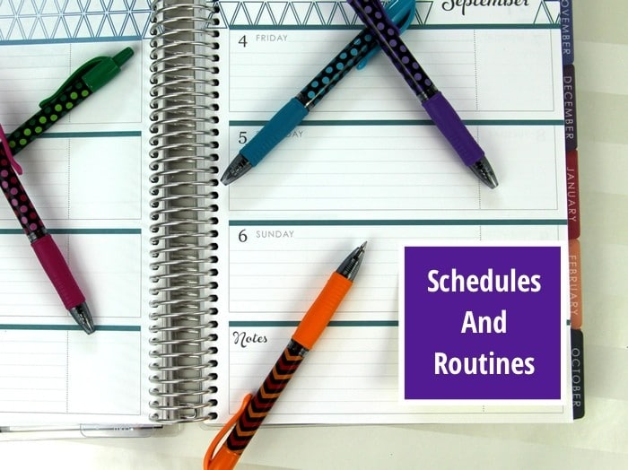 Back To School Challenge - Schedules And Routines