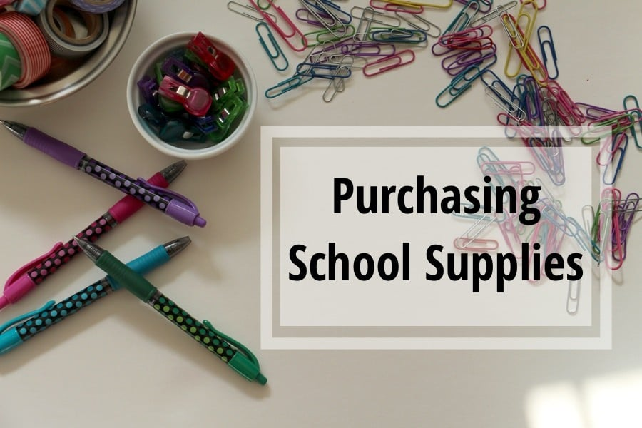 Back To School Organizing Challenge: Purchase Supplies