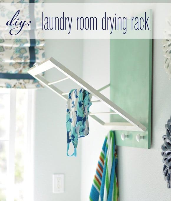 Laundry Round-Up - DIY Laundry Room Drying Rack