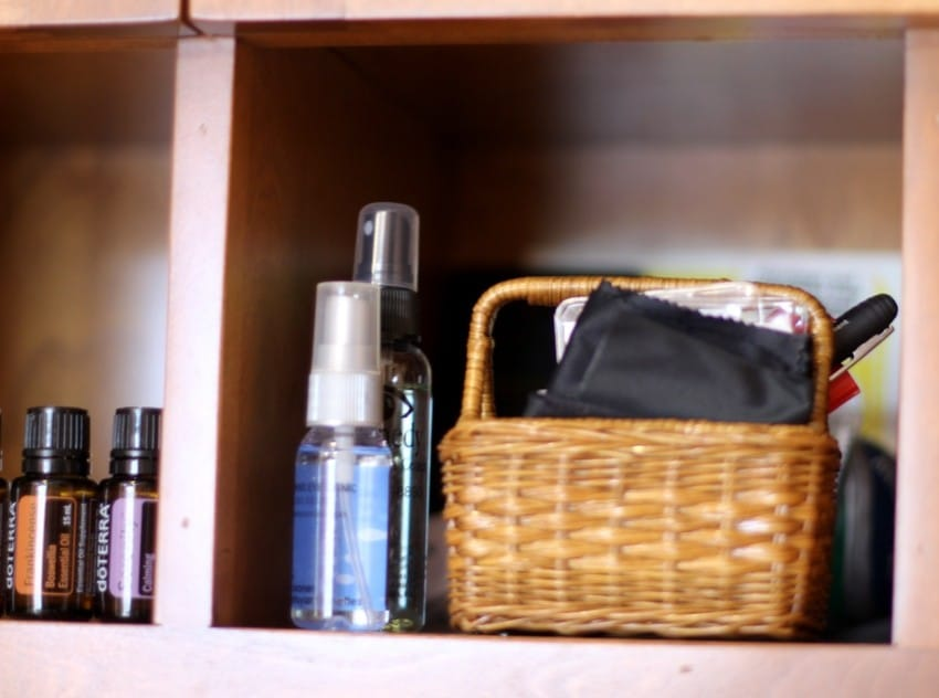 Organizing Mail Cubbies - Baskets In Cabinets