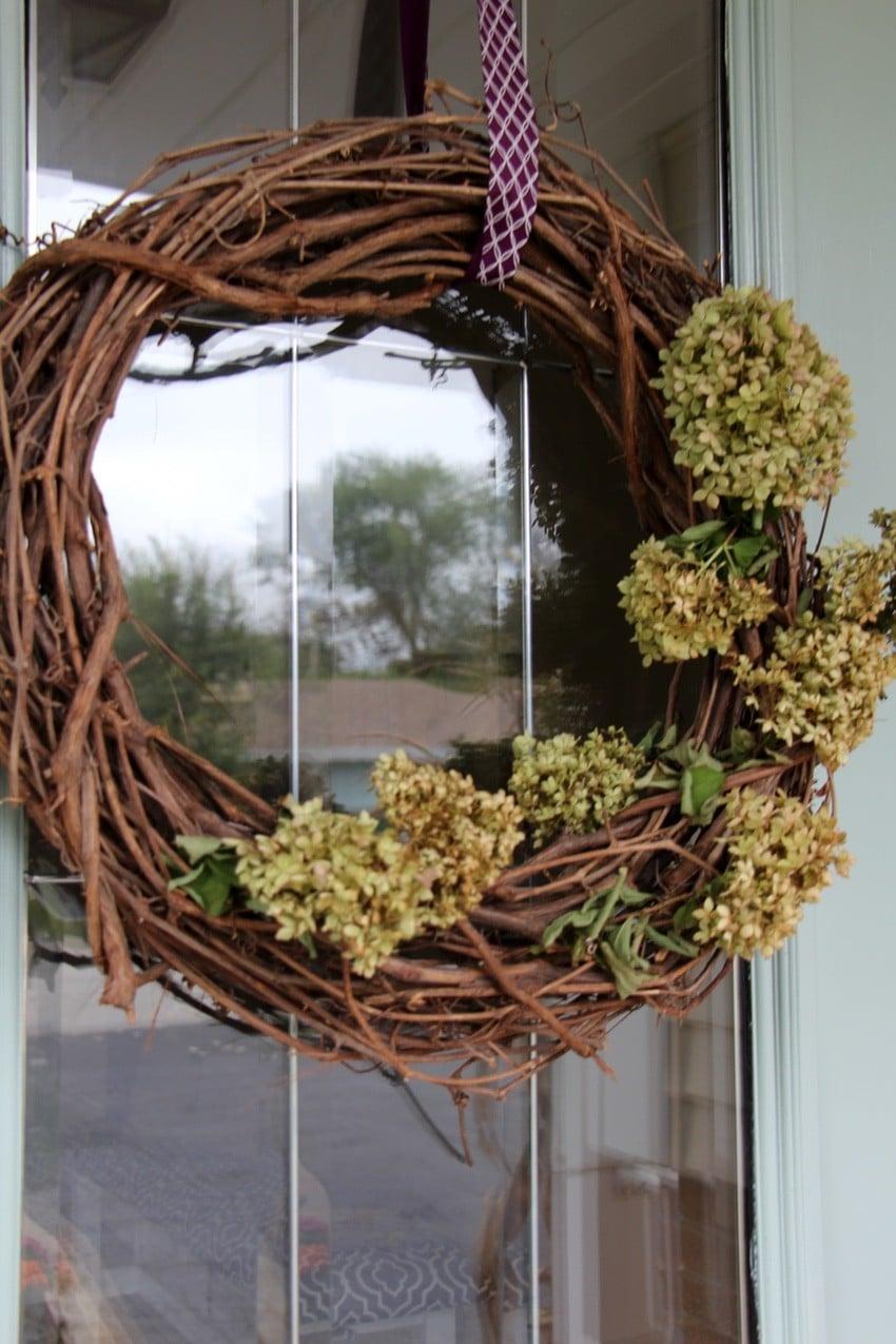 Fall Door Decor - Hydrangea Wreath