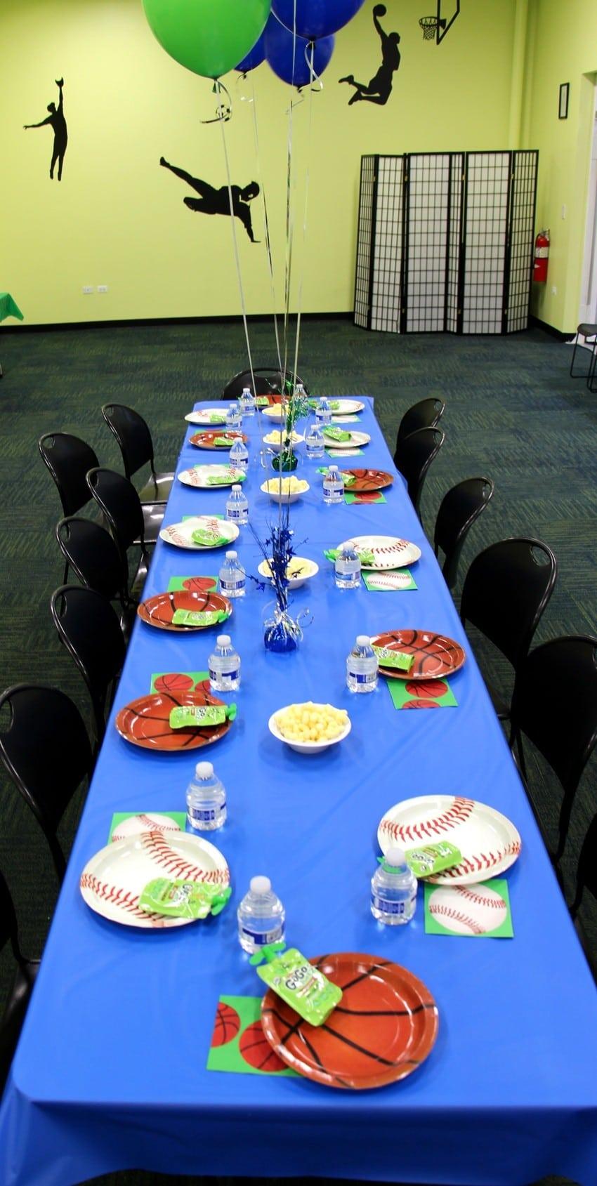 Sports-Rocker Themed Birthday Party - Table