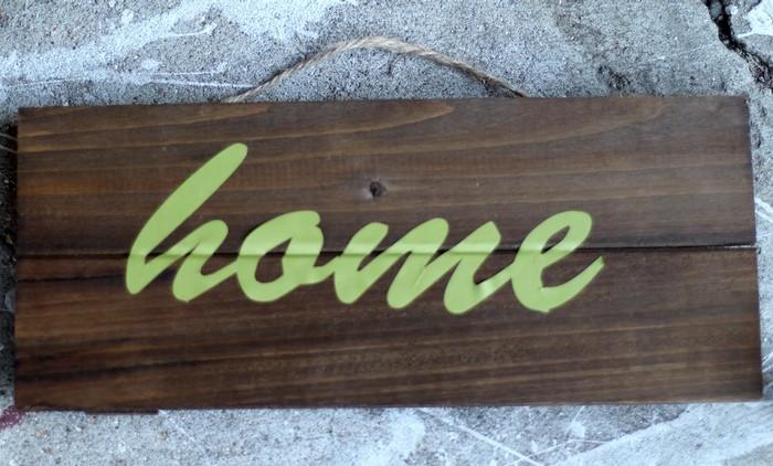 Glitter Plank Board Sign Tutorial - Vinyl Sign