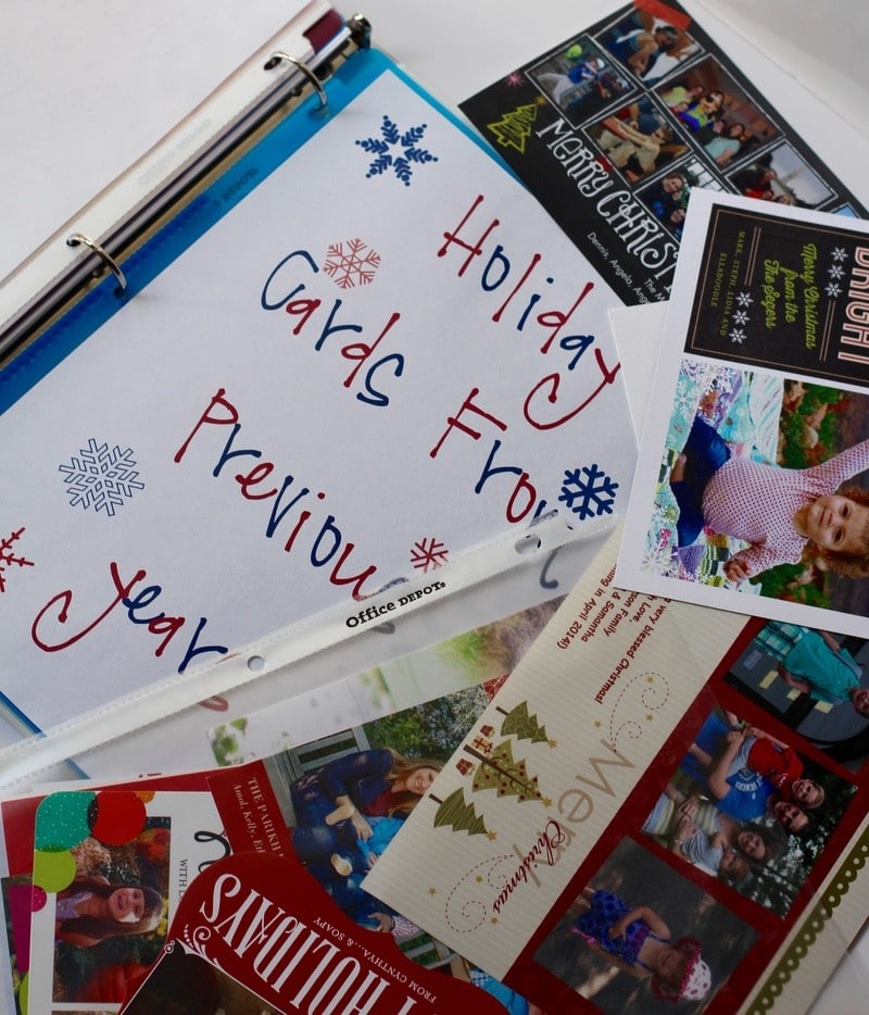 Keeping Tabs On My Holiday Gift-Giving - Holiday Cards Years Past