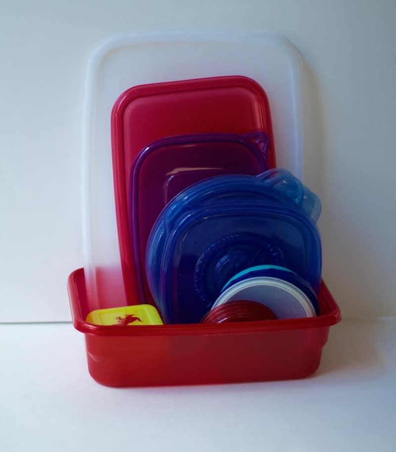 storing tupperware