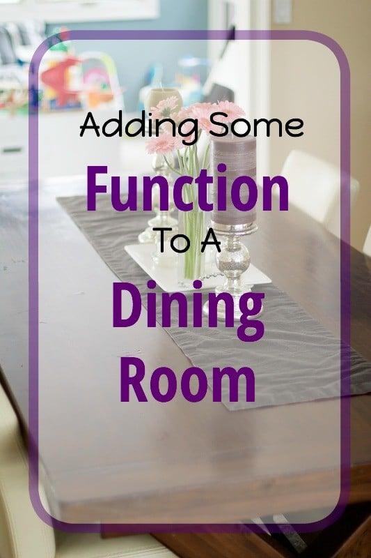 Adding Functin To Dining Room
