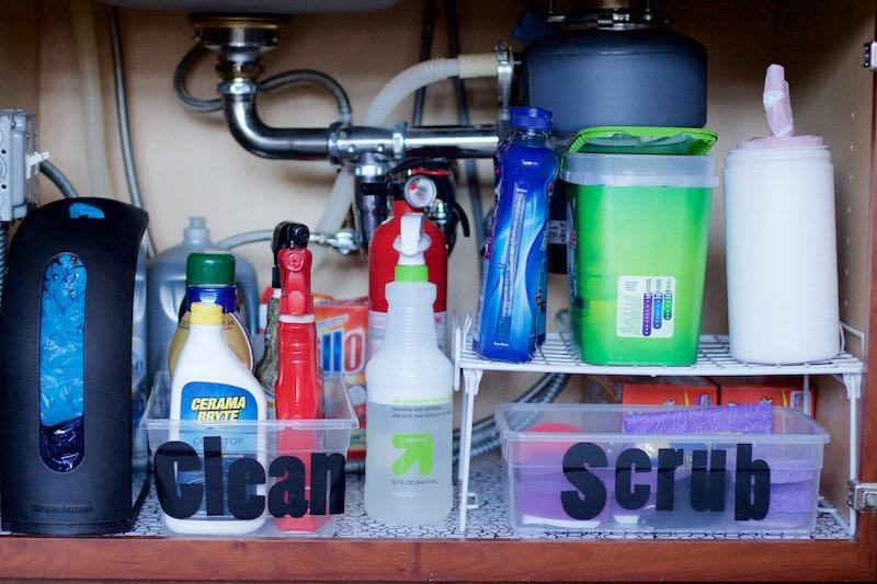Full Shot Under Kitchen Sink