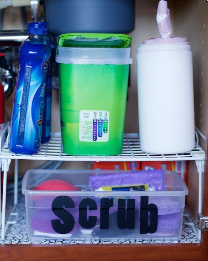 Scrub Bin Under Sink