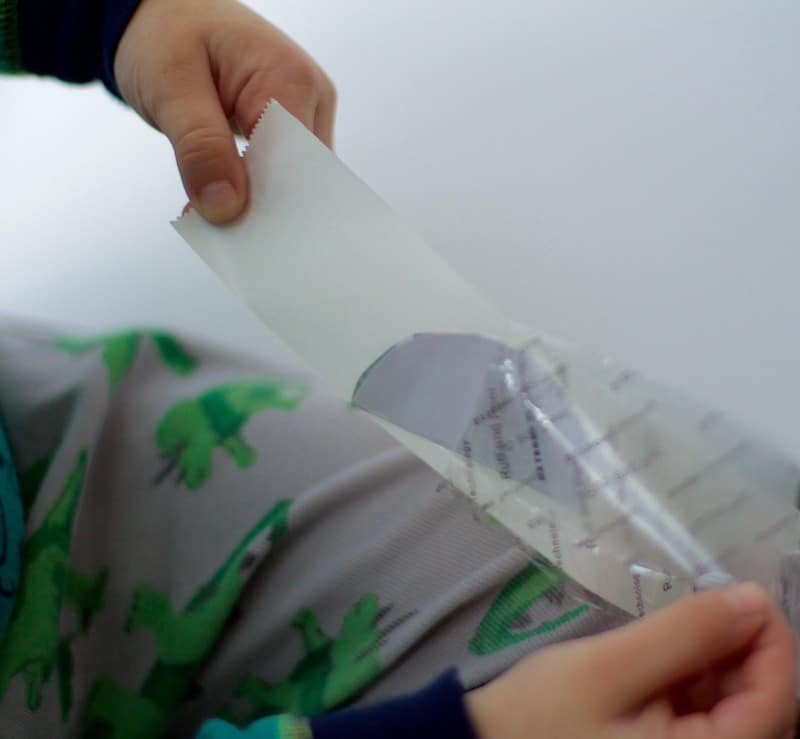Removing Sticker Paper