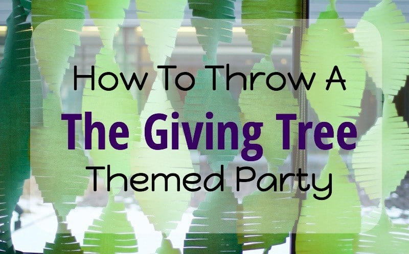 "How To Throw A ""The Giving Tree"" Themed Party"