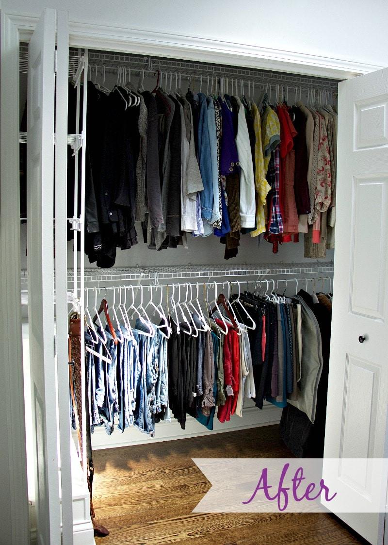 After Closet Organization