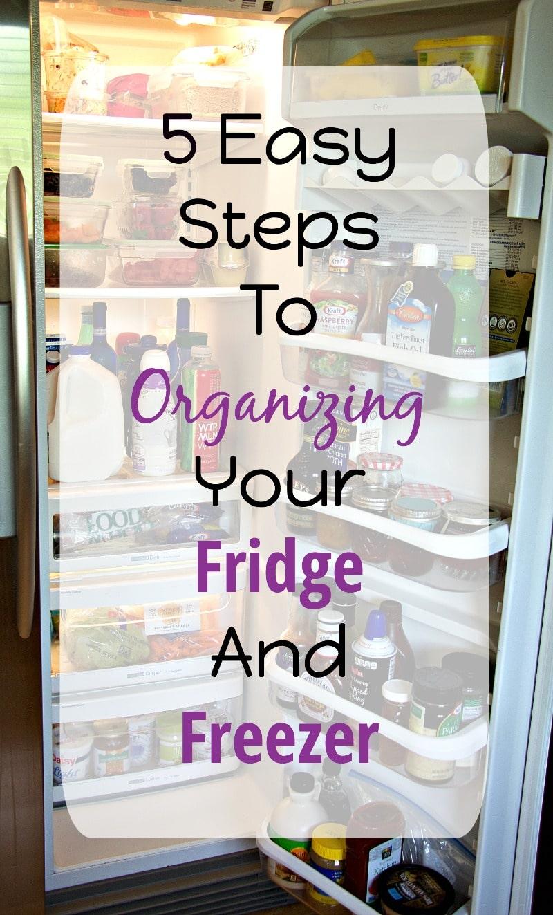5 Easy Steps Fridge Organization