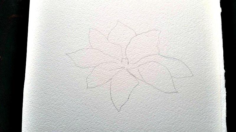 Outline Flower