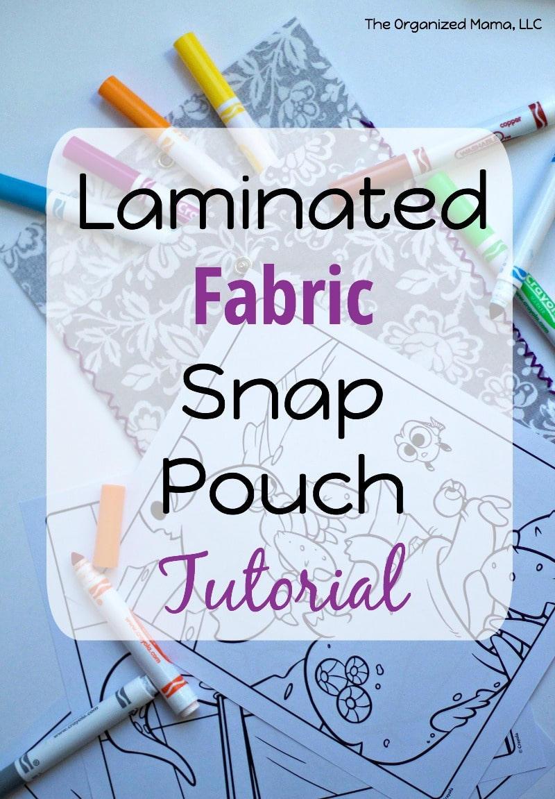 Laminated Fabric Snap Pouch Tutorial
