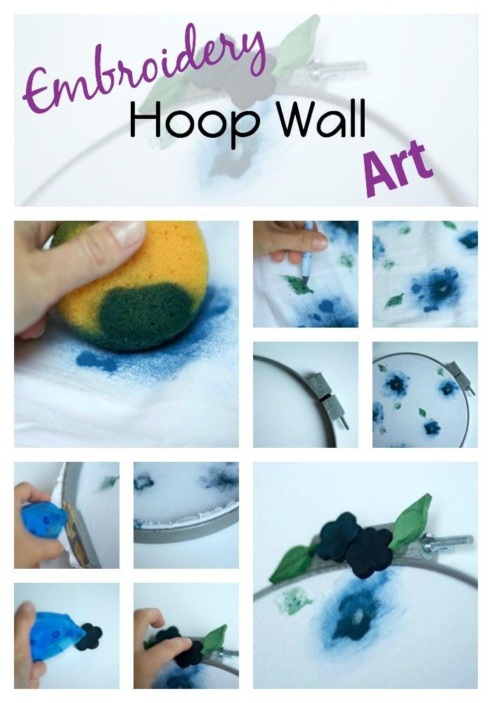 Embroidery Hoop Wall Art Tutorial