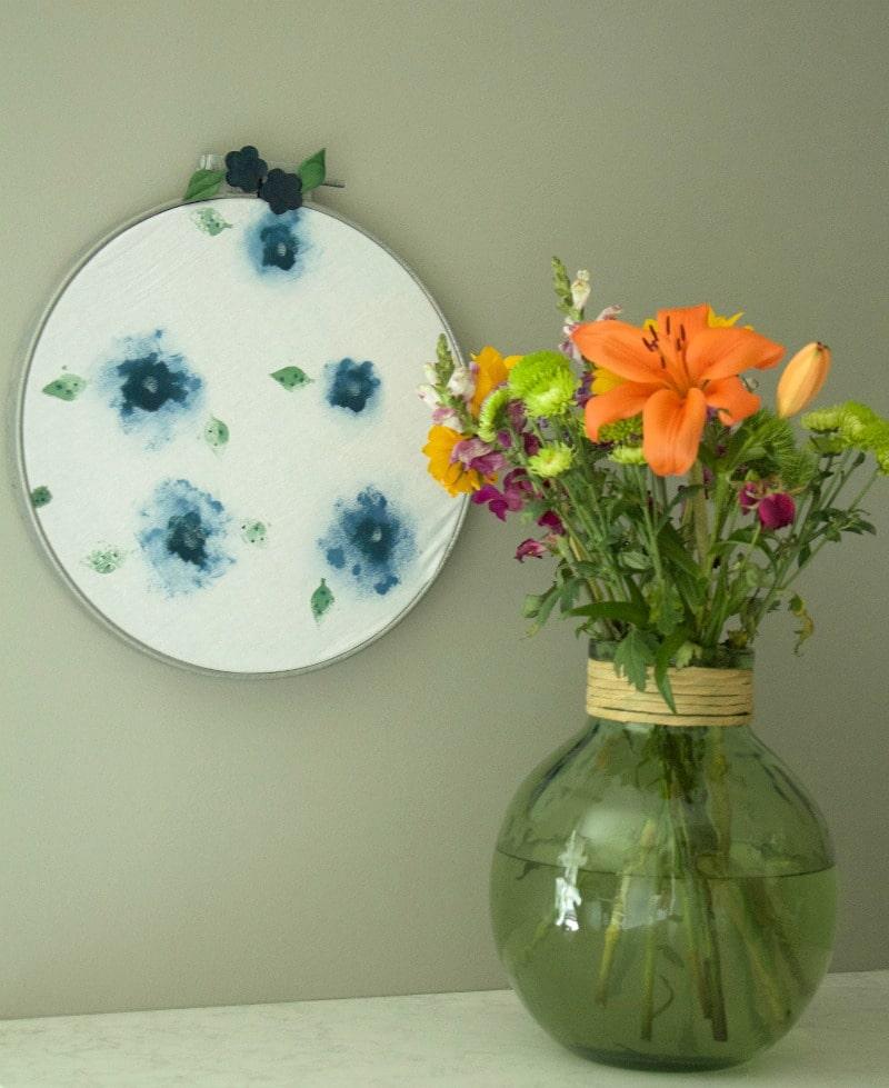 Hoop Art Flowers