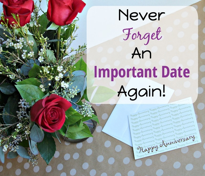Never Forget Important Date Again
