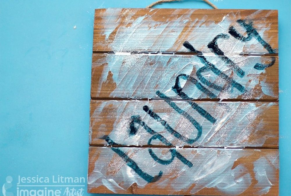 Wooden Pallet Glittery Laundry Sign