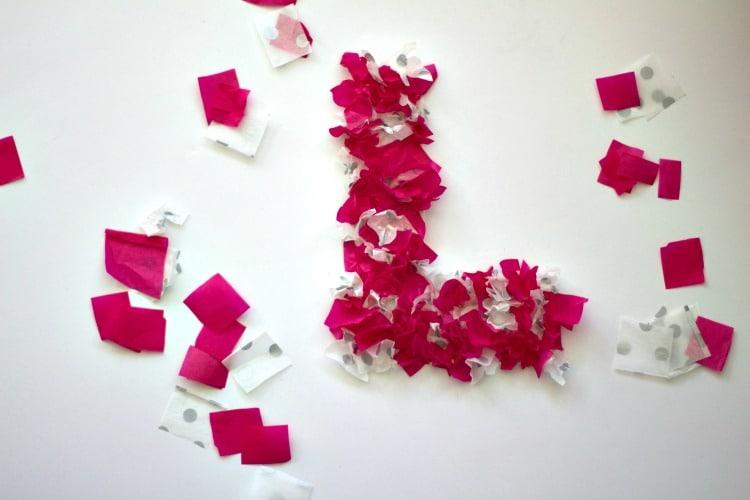 LOVE Tissue Paper Kid Craft