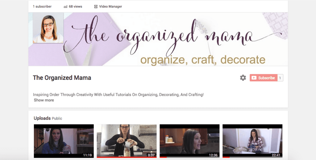 Organized Mama TV YouTube
