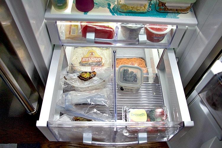 drawer fridge organization