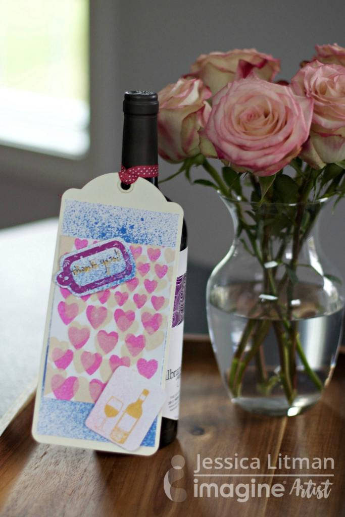 Easy tutorial to create gift tag for hostess gift
