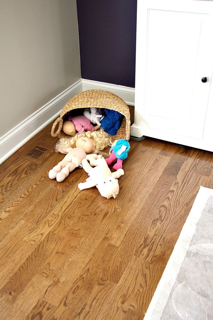 Babies In Basket Corner Living Room