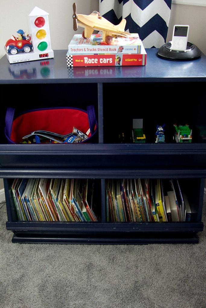 Bookshelf preschool bedroom
