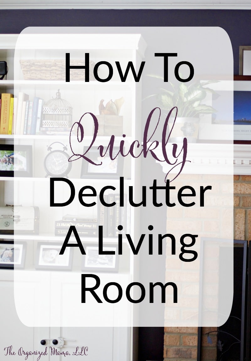 how to quickly declutter a living room