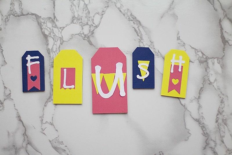 DIY Kids Bathroom Artwork