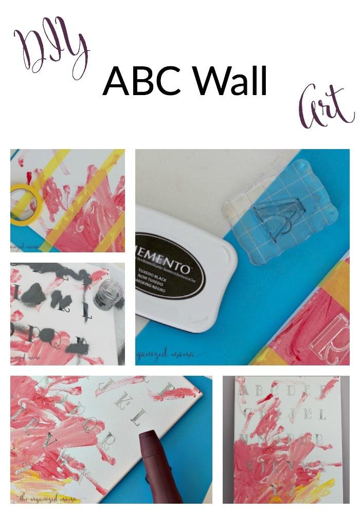 DIY ABC Wall Art