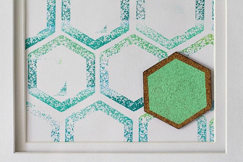 DIY Hexagon Patterned Paper