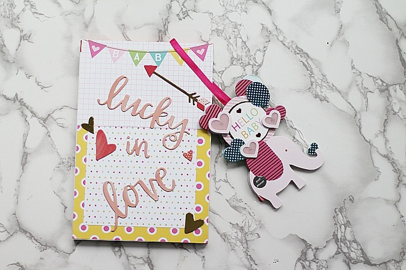 fnished lucky in love baby memory book xyron paper house
