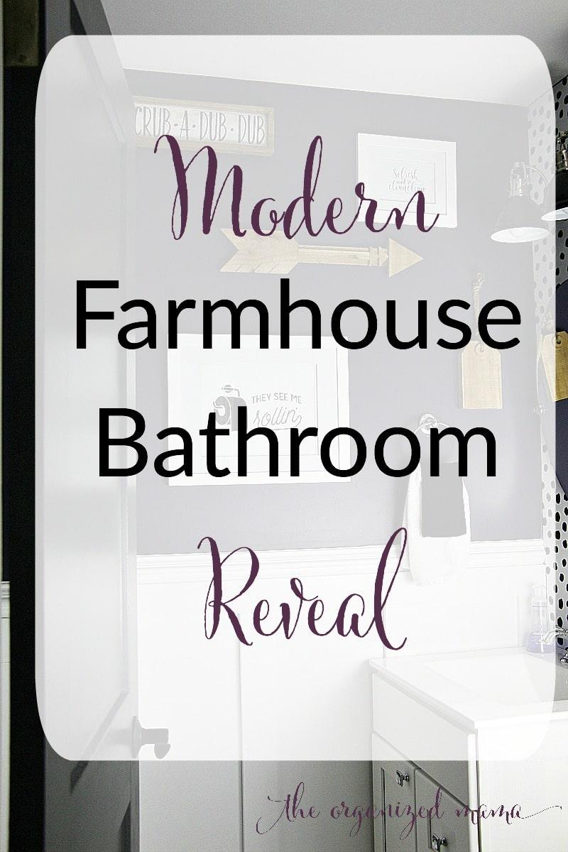 modern farmhouse bathroom reveal