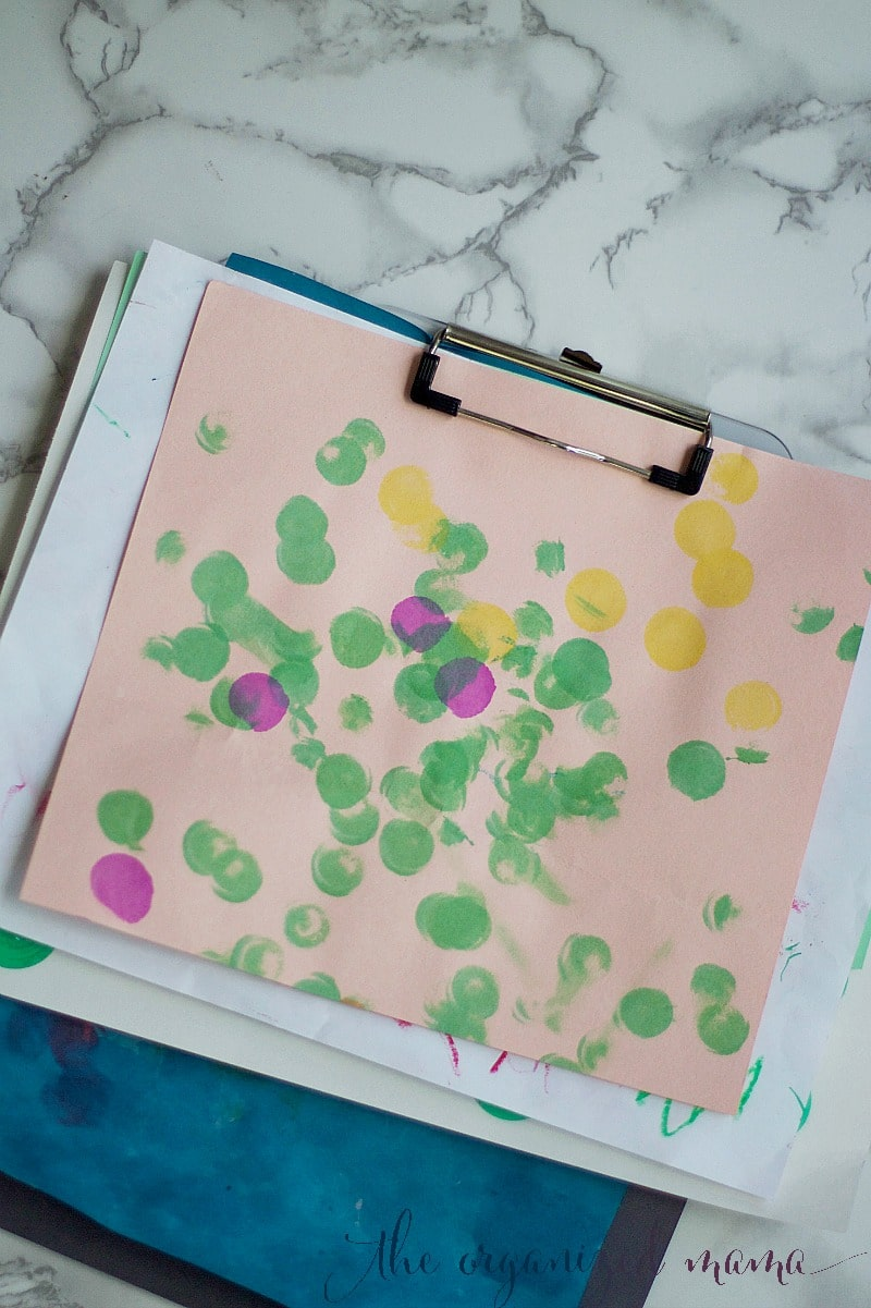 Clipboard Storing Kids Artwork