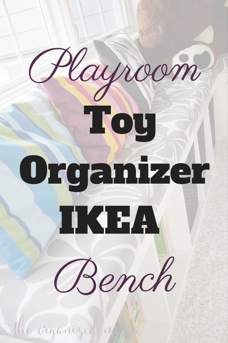Playroom Toy Organizer IKEA Bench