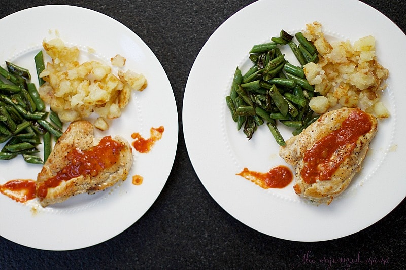 meals with home chef organizing family meal plans