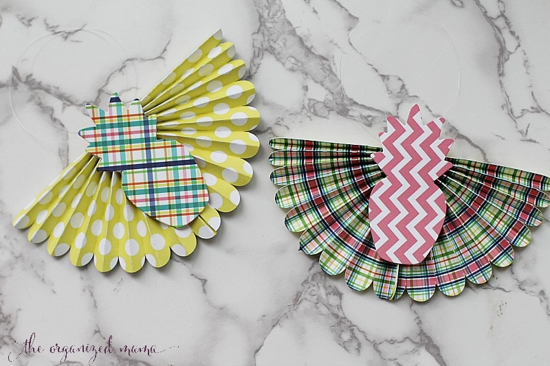 Pink, Pineapples, and Plaid Paper Bunting