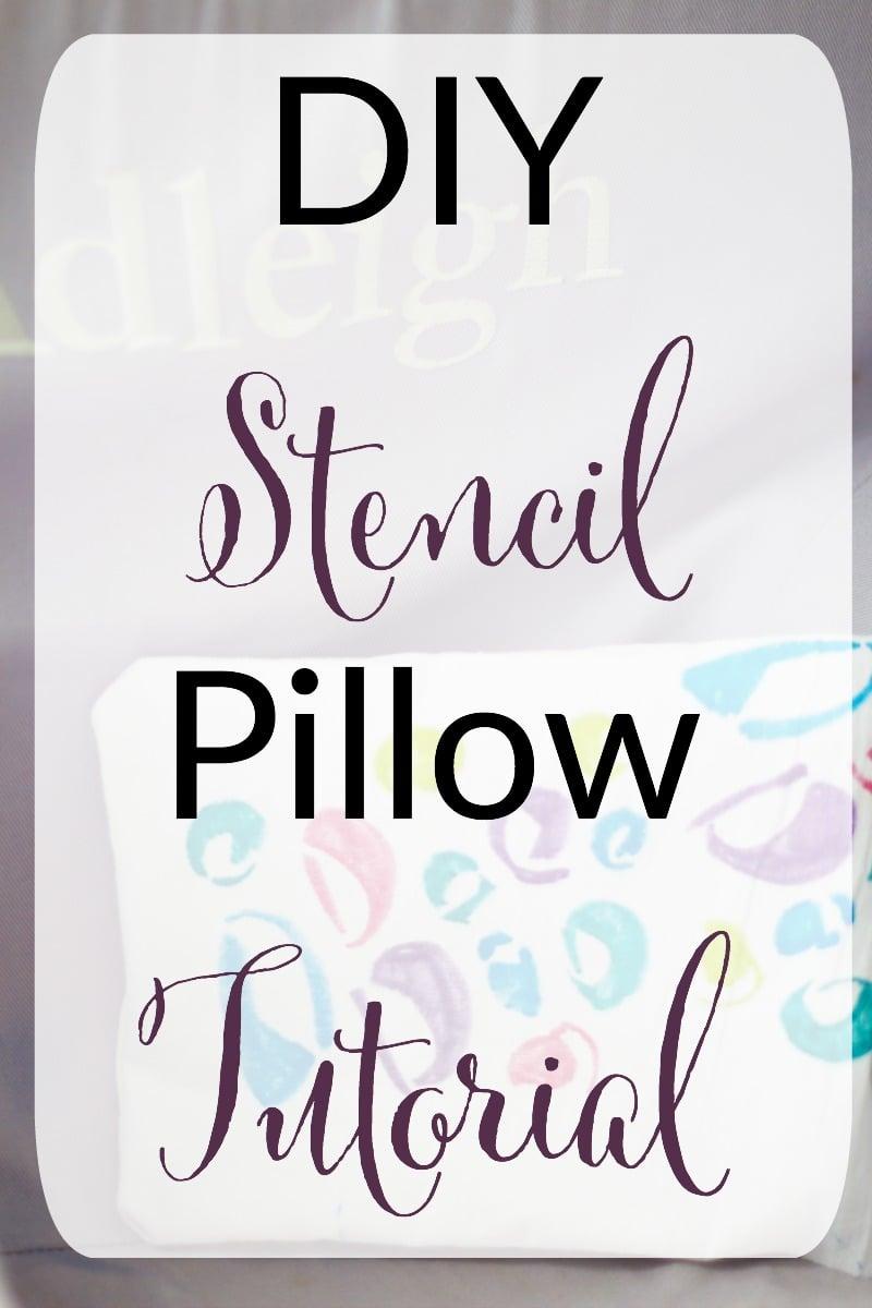 DIY Stencil Pillow Tutorial