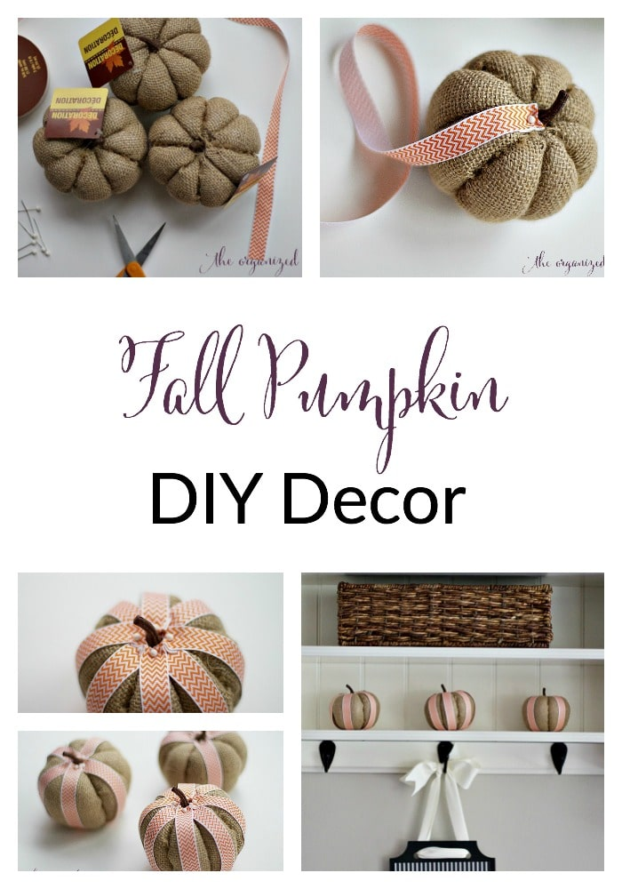 fall pumpkin diy decor tutorial