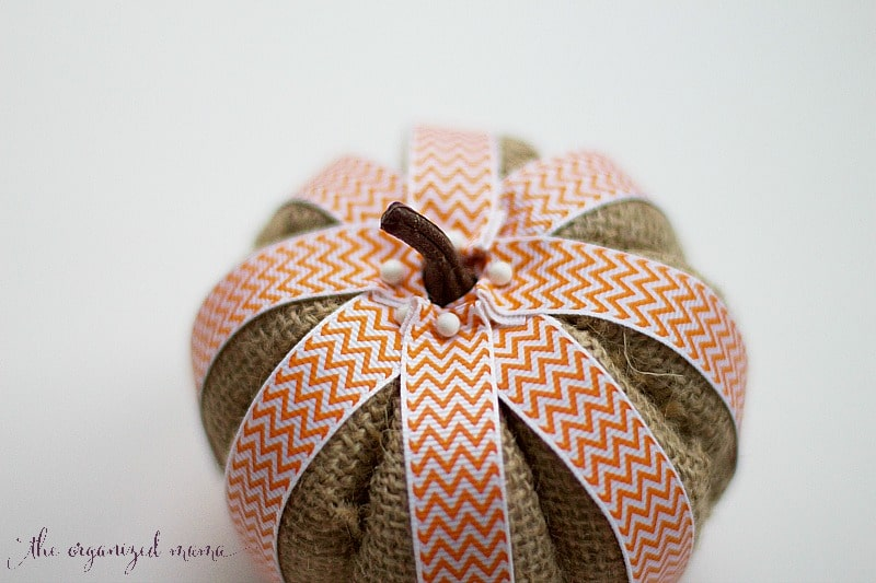 fall pumpkin diy finished pumpkin orange ribbon