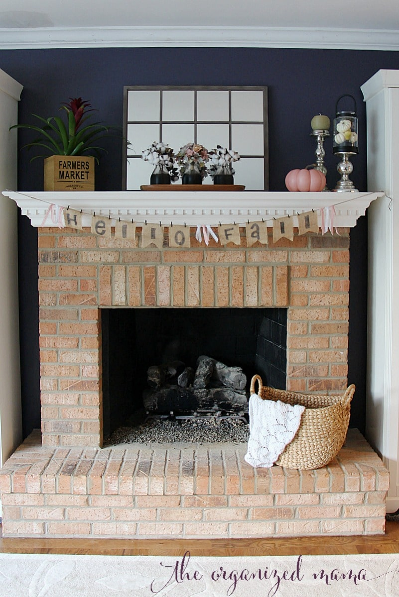 Pastel Fall Mantel Decor