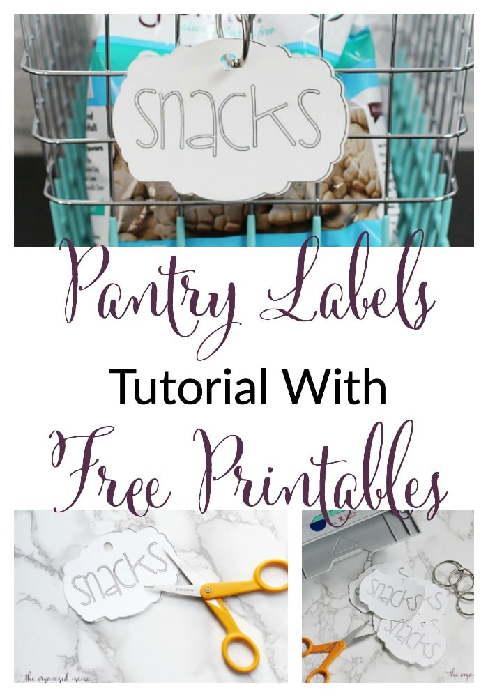 Make Your Own Pantry Labels Tutorial