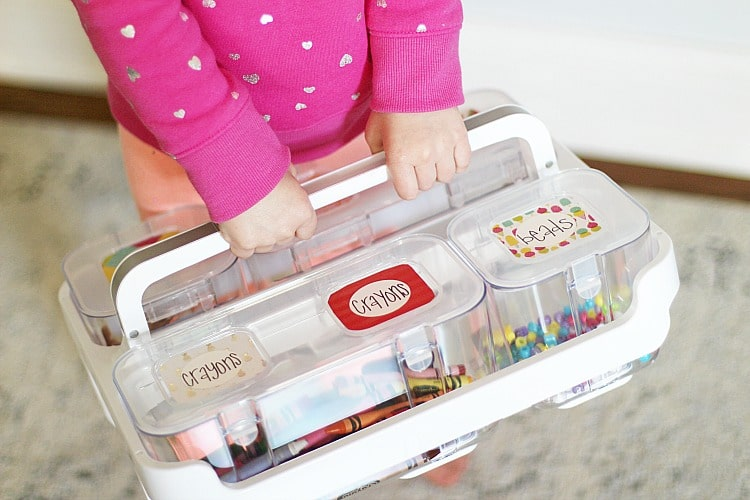 How To Easily Store Kids Art Supplies