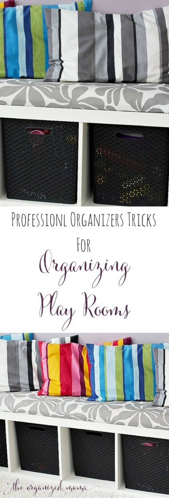 When it comes to organizing play rooms professional organizer, The Organized Mama, shares her tips and tricks, along with ways to do a 10-minute clean up! #playroom #organize