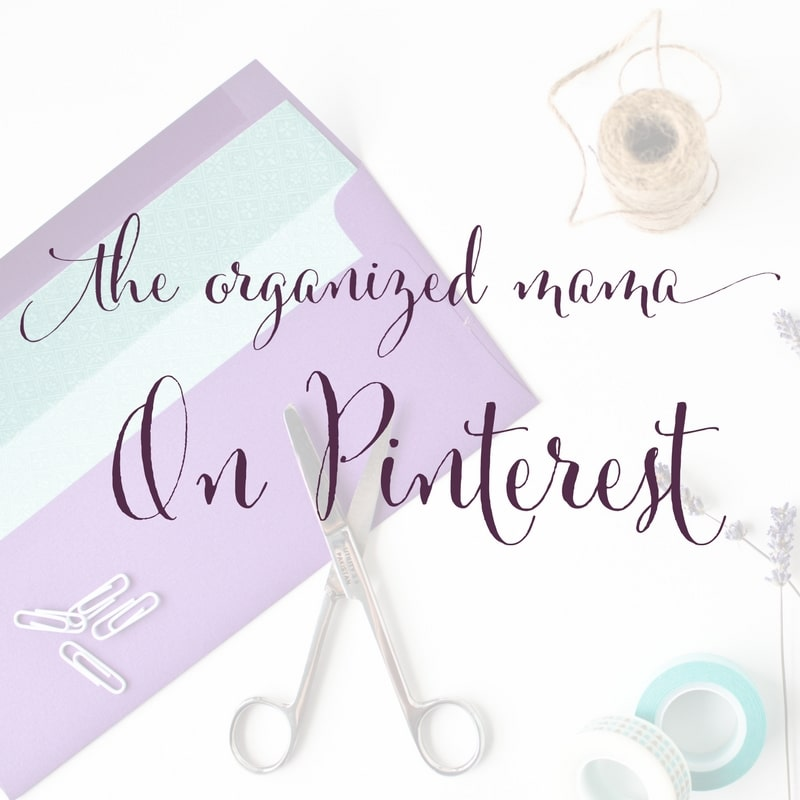 Follow The Organized Mama On Pinterest for Organizing, Decorating and Home Decor Inspiration