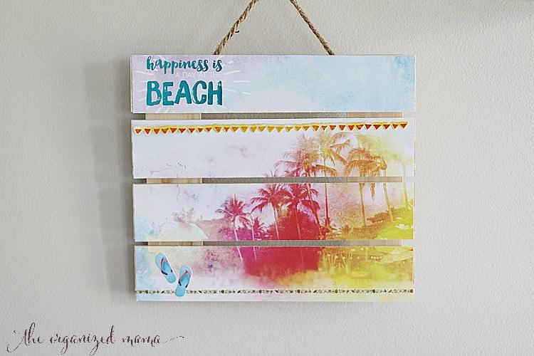 Beach Pallet Wall Decor