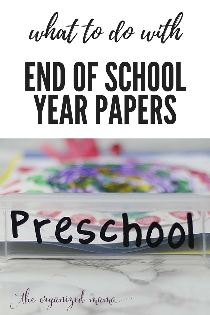 With the end of the school year quickly approaching, what are you going to do with all those papers coming home from school? This easy tutorial can help you set up a system that will keep all the school papers organized! #papers #kidsartwork #storage
