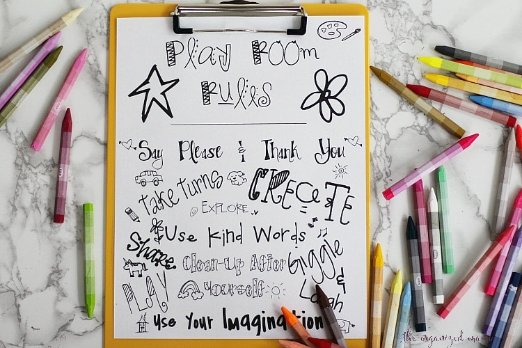 Play Room Rules Free Printable